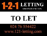 121 Letting & Investments Coventry CV1  Estate and Letting Agents