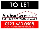 Archer Collins & Co Birmingham B18  Estate and Letting Agents